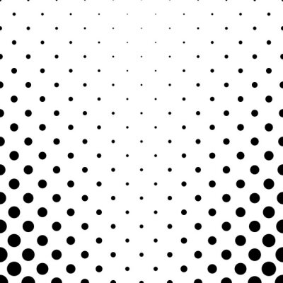 Tapeta Abstrakcjonistyczny czarny i biały kropka wzór - geometryczny prosty wektorowy tło graficzny projekt od okregów