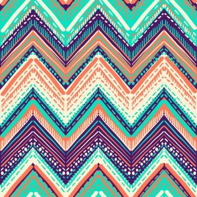 Tapeta Abstrakcjonistyczny Ikat i boho stylu handcraft tkanina wzór. Tradycyjny etniczny projekt odzieży i tła tekstylnego, dywanu lub tapety