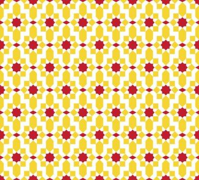 Tapeta Abstrakcjonistyczny kolorowy bezszwowy Islamski wzór