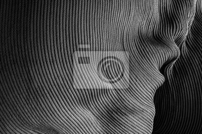 Tapeta Abstrakcjonistyczny tło od tekstury stalowy prętowy wzór. Monochromatyczne zdjęcie ze światłem i cieniem.