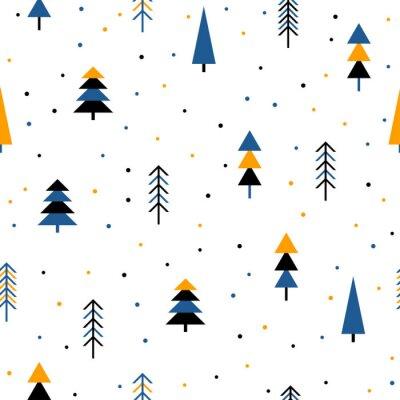 Tapeta Abstrakcyjna lasu bez szwu deseń tła.