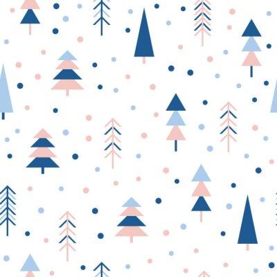 Tapeta Abstrakcyjna lasu bez szwu deseń tła. Childish prosta ręcznie narysowana okładka do projektowania kart, tapety, album, notatnik, papier pakowy wakacje, tkaniny włókiennicze, druk torby, t shirt itp.
