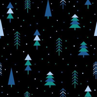Tapeta Abstrakcyjna lasu bez szwu deseń tła. Childish prosta wyciągnąć ręcznie okładkę
