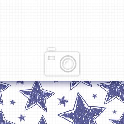 Abstrakcyjna tła z ręcznie rysowane gwiazdkowych