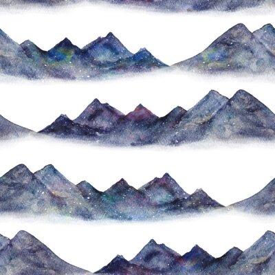 Tapeta Akwarela malarstwo jednolity wzór z góry