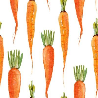 Tapeta Akwarela wzór marchewki