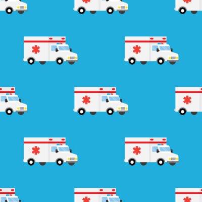 Tapeta Ambulans pierwszej pomocy samochodu wzór
