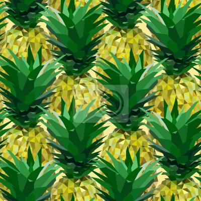 Tapeta ananas geometryczny
