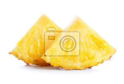 Tapeta Ananas samodzielnie na białym tle