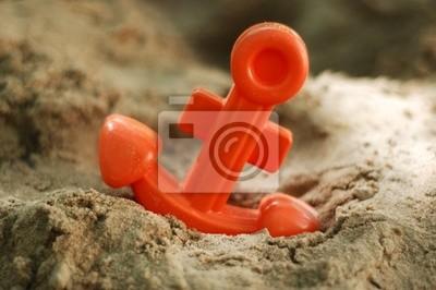anchor zabawki w piasku plaży