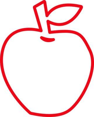 Tapeta Apple icon friut sign design