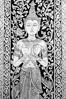 Tapeta Art painting Thai, tradycyjny tajski styl