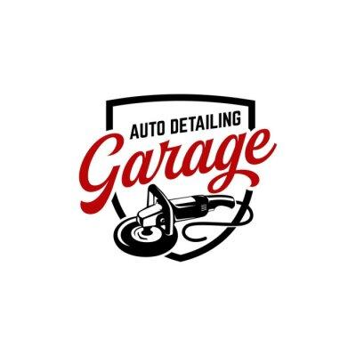 Tapeta auto detailing logo polisher car