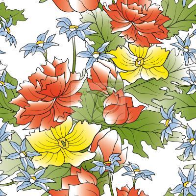 Tapeta Azjatycki Kwiat Bukiet