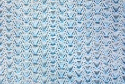 Tapeta background of blue japanese dotted style wave pattern teture