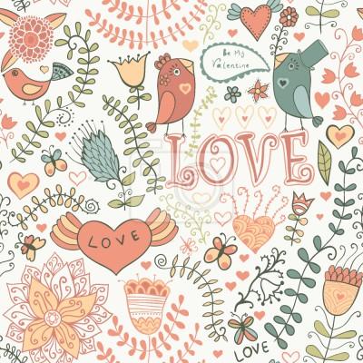 Tapeta Bądź mój Valentine Sweet Bird