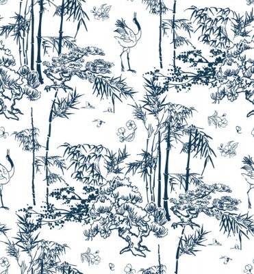 Tapeta bamboo vector japanese pattern nature pine traditional