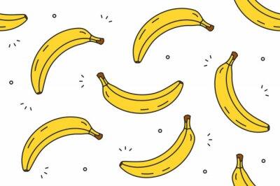 Tapeta Banany bezszwowe wzór. Ilustracji wektorowych