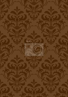 Tapeta Barokowy czekoladowy
