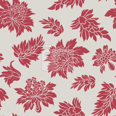 Tapeta Barokowy kwiat czerwony