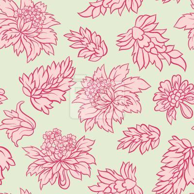 Tapeta Barokowy kwiatowy pastelowy