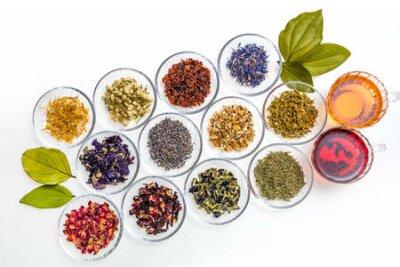 Tapeta Beautiful Herbal Tea Colorful Herb Tea