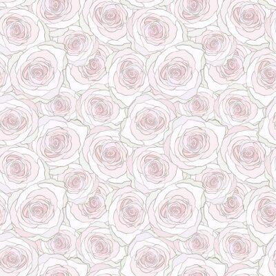Tapeta Bez szwu deseń z róż. Wektor kwiatu tła