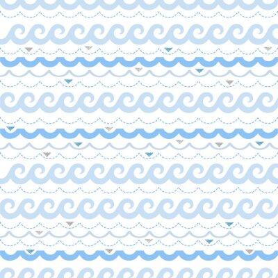 Tapeta bez szwu fali niebieskiej z glitter deseń tła