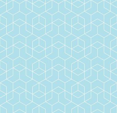 Tapeta Bez szwu geometrycznej linii siatki wektor kostek wzór