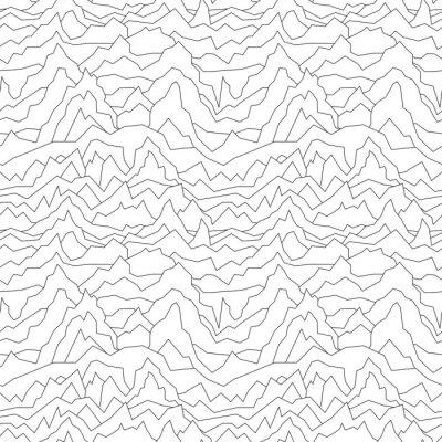 Tapeta Bez szwu zniekształcony wzór. Abstrakcyjne tło krzywej. Białe tekstury.