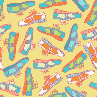 Tapeta Bezszwowa tekstura z sneakers.