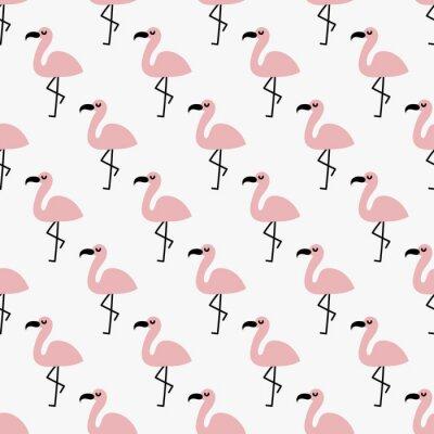 Tapeta bezszwowe flamingo wzór