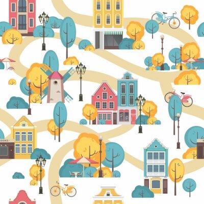 Tapeta bezszwowe miasto wzór