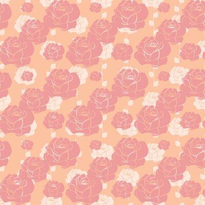 Tapeta Bezszwowe vintage wzory róż