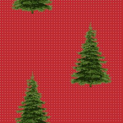 Tapeta Bezszwowy Wesoło bożych narodzeń Świąteczny wzór z drzewem