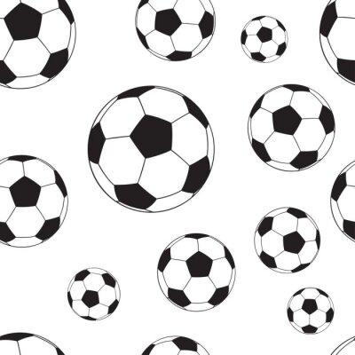 Tapeta Bezszwowy wzór z futbolowymi piłkami