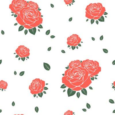 Tapeta Bezszwowy wzór z różami. Ilustracji wektorowych
