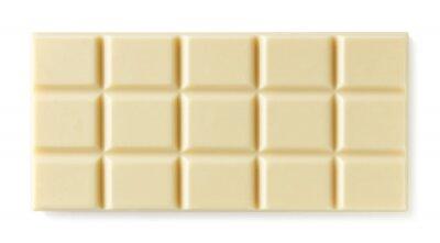 Biały czekoladowy bar odizolowywający na białym tle