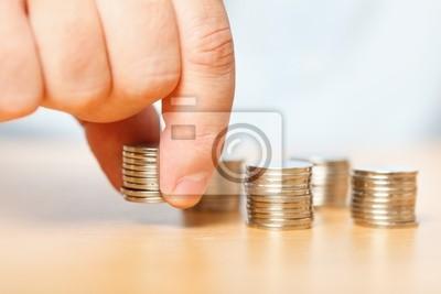 Tapeta Biznesmen strony osiągając za grosze