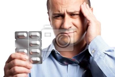 Biznesmen z bólem głowy