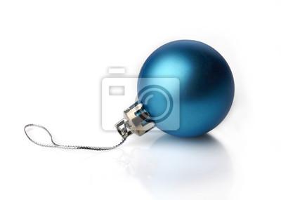 Tapeta Blue Christmas dekoracji na białym tle