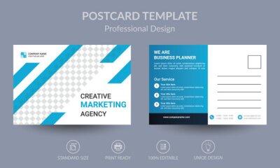 Tapeta Blue Corporate business postcard or EDDM postcard design template