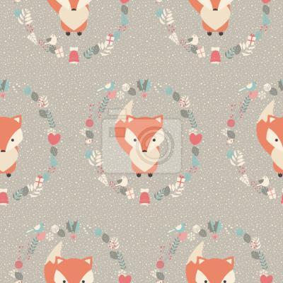 Tapeta Boże Narodzenie Baby Fox