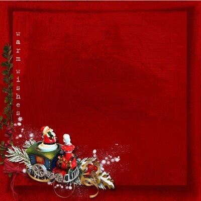 Boże Narodzenie Greeting Card. Boże Narodzenie pociąg