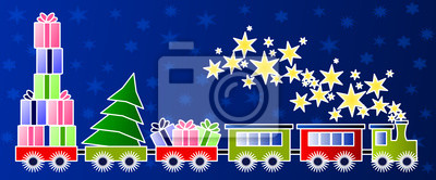 Boże Narodzenie pociąg - ilustracja dla dzieci