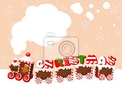 Boże Narodzenie w tle pociąg