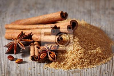 Brązowy cukier, cynamonu i anyżu