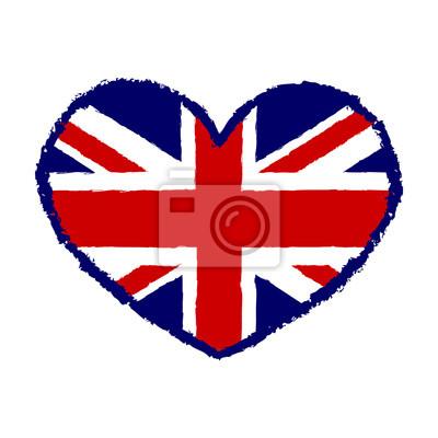 Tapeta British flag t grafiki koszulę typografii. Symbol  tCTLI