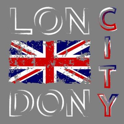 Tapeta British flag t grafiki koszulę typografii. Symbol Anglii, Wielkiej Brytanii Wielka Brytania. Szablon odzieży, karta, plakat. ilustracji wektorowych