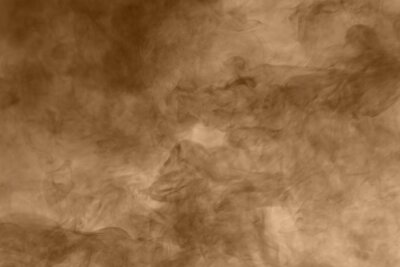 Tapeta Brown smoke background. Brown dust particle exhale in the air.